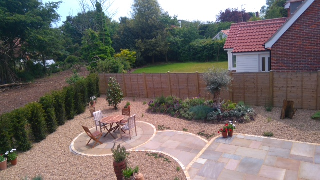 Garden design and build service the norfolk olive tree for Garden design norfolk