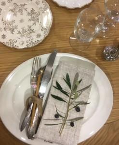 wedding reception plate